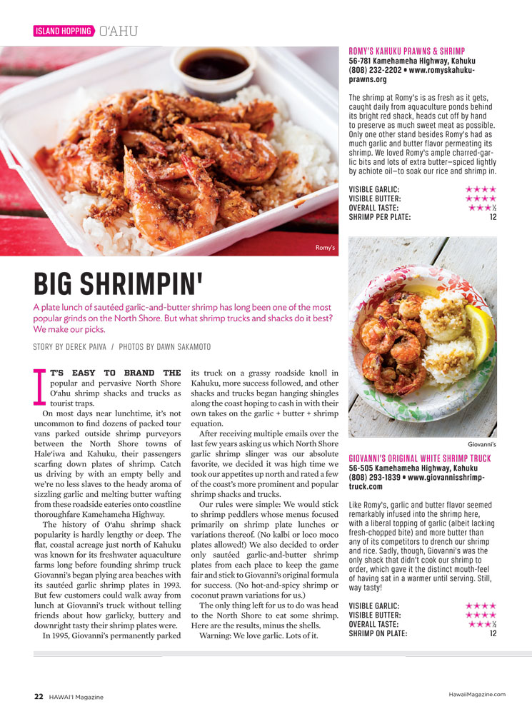 HAWAII Magazine - Big Shrimpin'